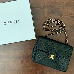 Vintage Chanel Single Flap Quilted Lambskin Mini